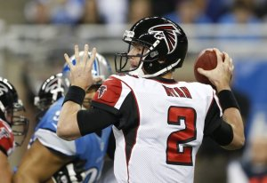 Matt Ryan threw four touchdowns in last week's victory. (Carlos Osorio)