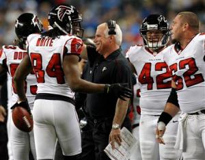 Is this the year the Falcons finally get that elusive playoff victory under Mike Smith? (Rebecca Cook)