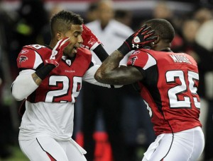Thomas DeCoud and William Moore thrived in Mike Nolan's system. (Curtis Compton)