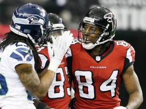Richard Sherman didn't have much to say after Roddy White burned him for a 47-yard touchdown.(David Goldman)