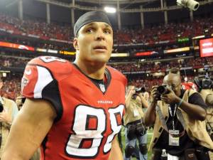 Like Thomas Dimitroff, I'm not convinced Tony Gonzalez is 95 percent sure he'll retire. (Kevin Liles)