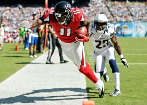 Julio Jones better than Calvin Johnson? Not quite yet. (Gregory Bull)