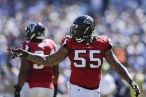 John Abraham will not return to Atlanta. (Gregory Bull)