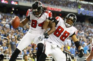 Tony Gonzalez and Roddy White should arguably be higher on the list. (Rick Osentoski)