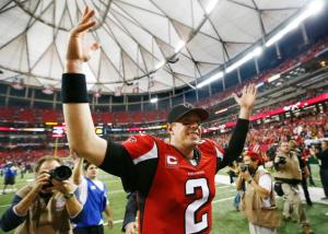 Matt Ryan set career-highs in touchdowns, yards, and completion percentage last season. (Chris Keane)