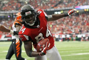 Roddy White will likely be fined following his harsh reaction to the George Zimmerman verdict. (Kevin C. Cox)