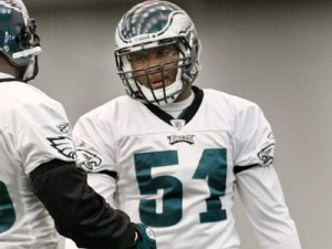 Jamar Chaney will likely fill Sean Weatherspoon's spot at weakside linebacker. (Elizabeth Robertson)