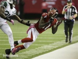 Losing Julio Jones is another tremendous blow the Falcons. (John Bazemore)