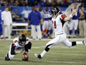 Matt Bryant's 36-yard field goal in overtime gave the Falcons the 34-31 victory.(Kevin Hoffman)