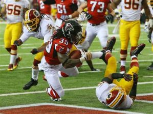 Expect the Falcons' running game to be status quo on Monday night. (Curtis Compton)