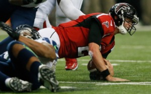 Matt Ryan was sacked a career-high 44 times in 2013. (Kevin C. Cox)