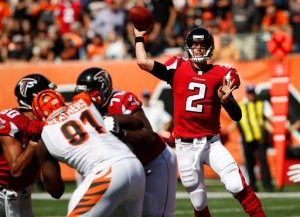 The Falcons offense has to improve against the Bucs. (Frank Victores)