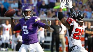 Teddy Bridgewater had an impressive debut against the Falcons. (Ann Heisenfelt)