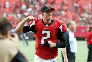 Matt Ryan turned in a record-breaking performance against the Saints. (Jason Getz)