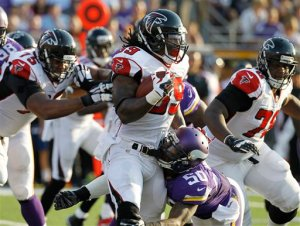 The Falcons have to find a way to win on the road. (Ann Heisenfelt)