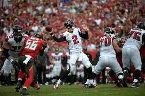 Matt Ryan should have a good day against a generous Panthers defense. (Phelan M. Ebenhack)