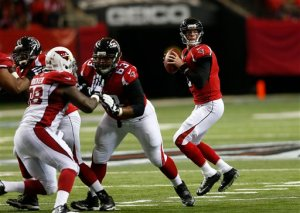 The Falcons will need to be perfect against the Packers on Monday night. (John Bazemore)