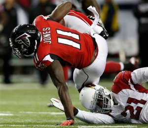 Julio Jones could not be stopped Sunday. (Brynn Anderson)